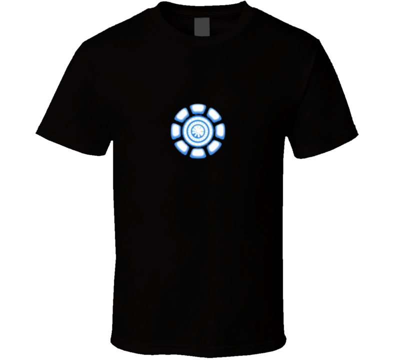 Tony Stark Ironman Chest Arc Reactor Fun Halloween Costume Graphic Tee Shirt