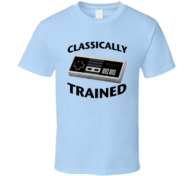 Classically Trained Vintage Nintendo Funny Retro Video Game Nerd Apparel T Shirt