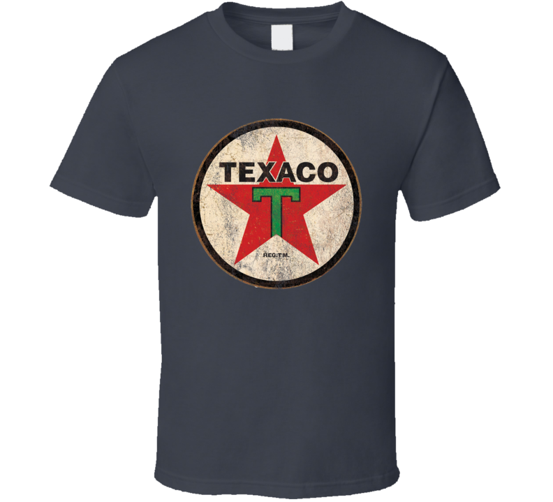Vintage Texaco Car Enthusiast Garage Distressed Graphic Tee Shirt