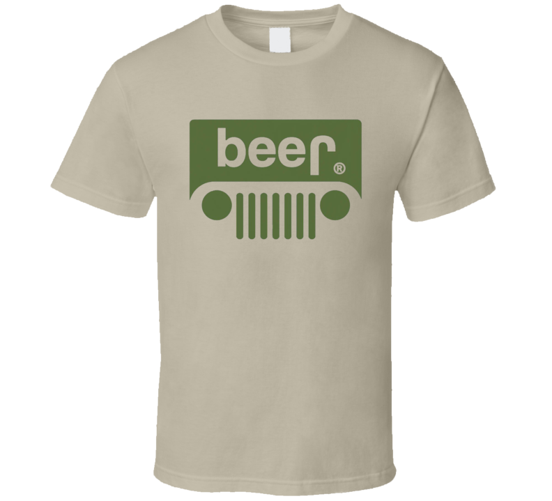 Beer Funny Jeep Wrangler TJ YJ Cherokee Graphic Grill Tee Shirt