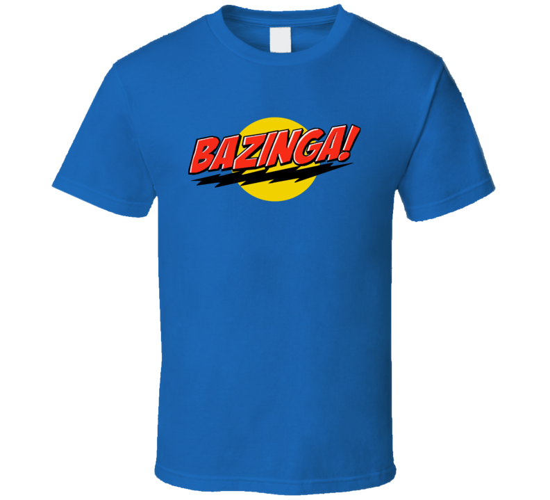 Bazinga Funny Sheldon Cooper Big Bang Theory Graphic TV Show Tee Shirt