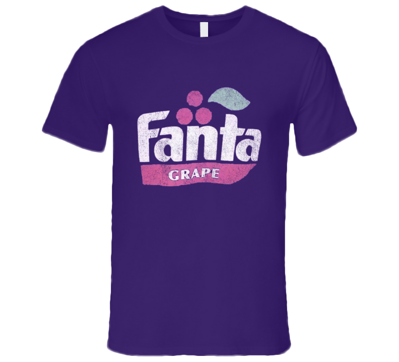 Grape Fanta Fun Vintage Classic Soda Pop Purple Drink Graphic Tee Shirt