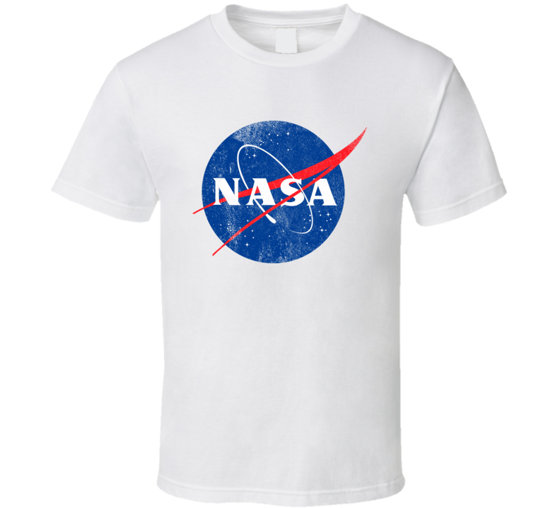 Vintage NASA Logo Distressed Graphic Tee Shirt
