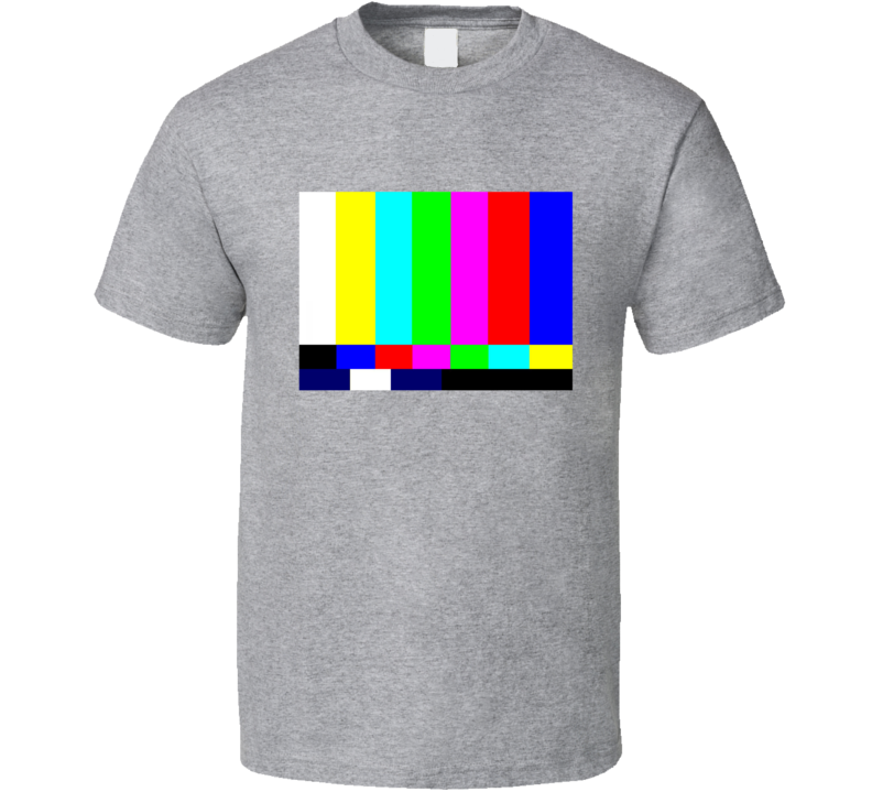 TV Test Pattern Fun Geek Graphic Nerd Tee Shirt