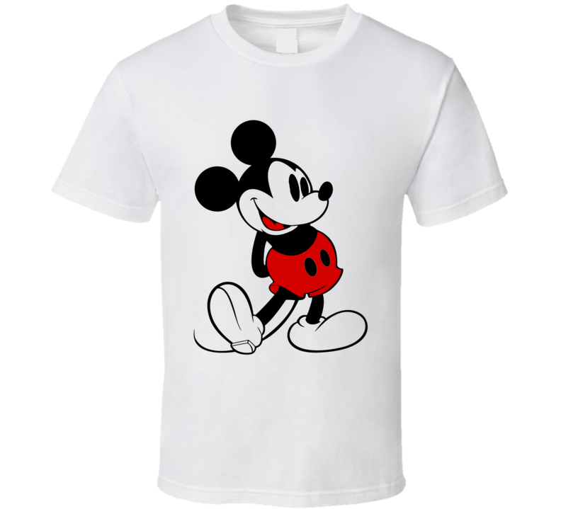 Vintage Mickey Mouse Fun Graphic Disney Tee Shirt