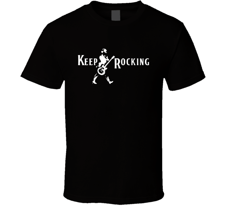 Keep Rocking Fun Graphic Johnny Walker Parody Alcohol Tee Shirt