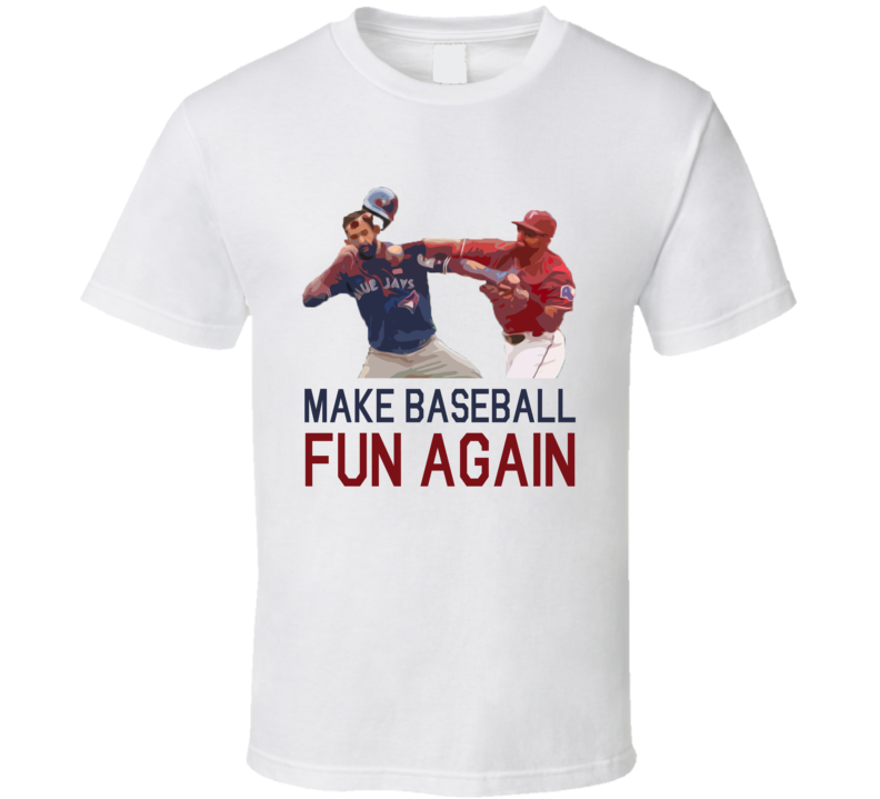 Make Baseball Fun Again Funny Odor Batista Toronto Texas Graphic Fan Punch TShirt
