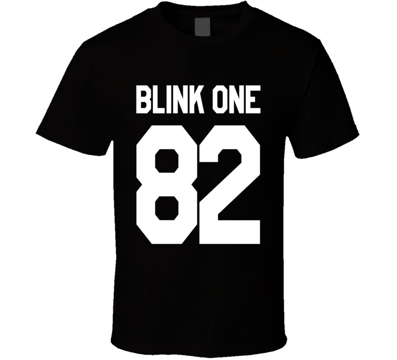 Blink One Fun Jersey Style Number Eighty Two Graphic Punk Band Fan TShirt