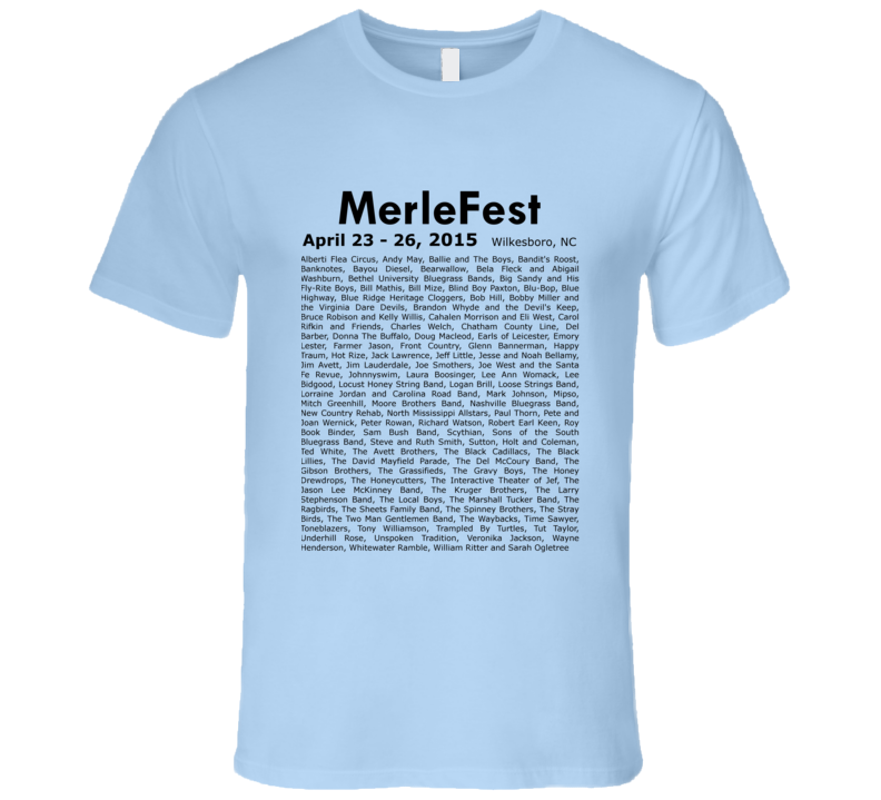 MerleFest Music Concert Fun Festival Band T Shirt