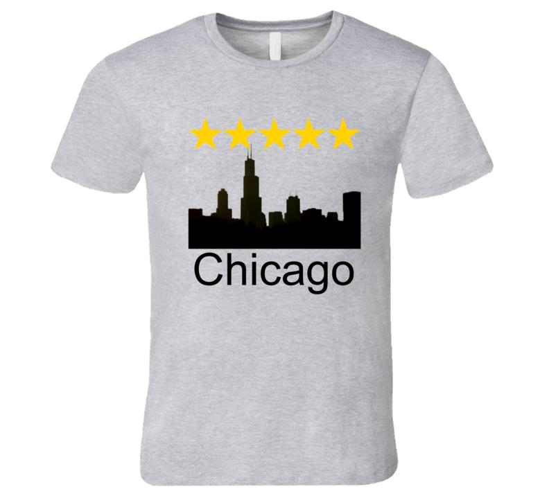 Chicago Five Star World Class City Silhouette T Shirt