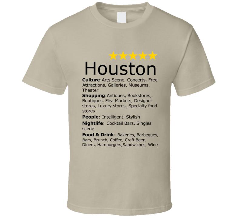 Best Of Houston Texas Five Star World Class City T Shirt