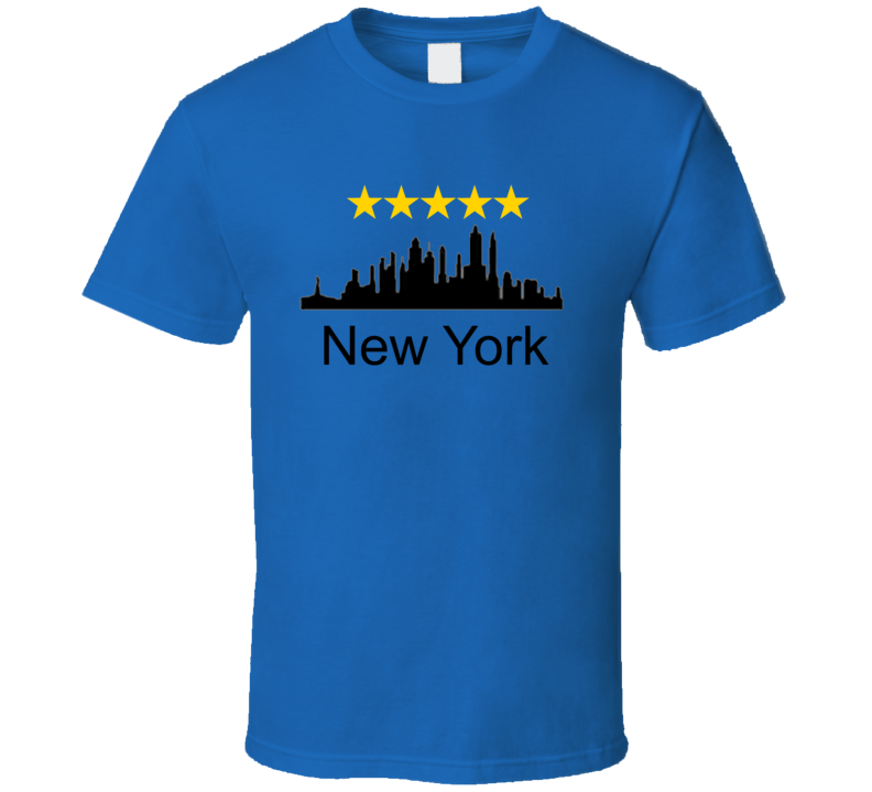 New York City Five Star World Class City Silhouette T Shirt