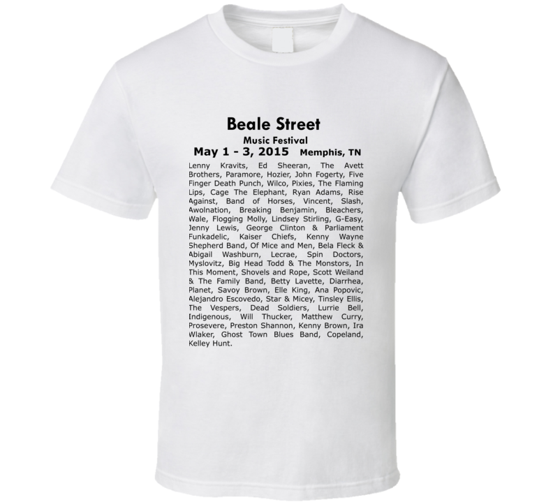 Beale Street Music Festival Concert Fun Band T Shirt
