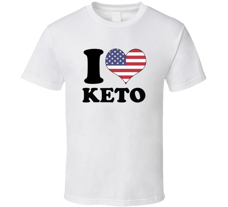 I Heart Keto Usa T Shirt