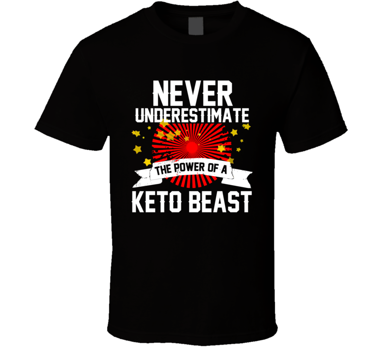 Never Underestimate The Power Of A Keto Beast T Shirt