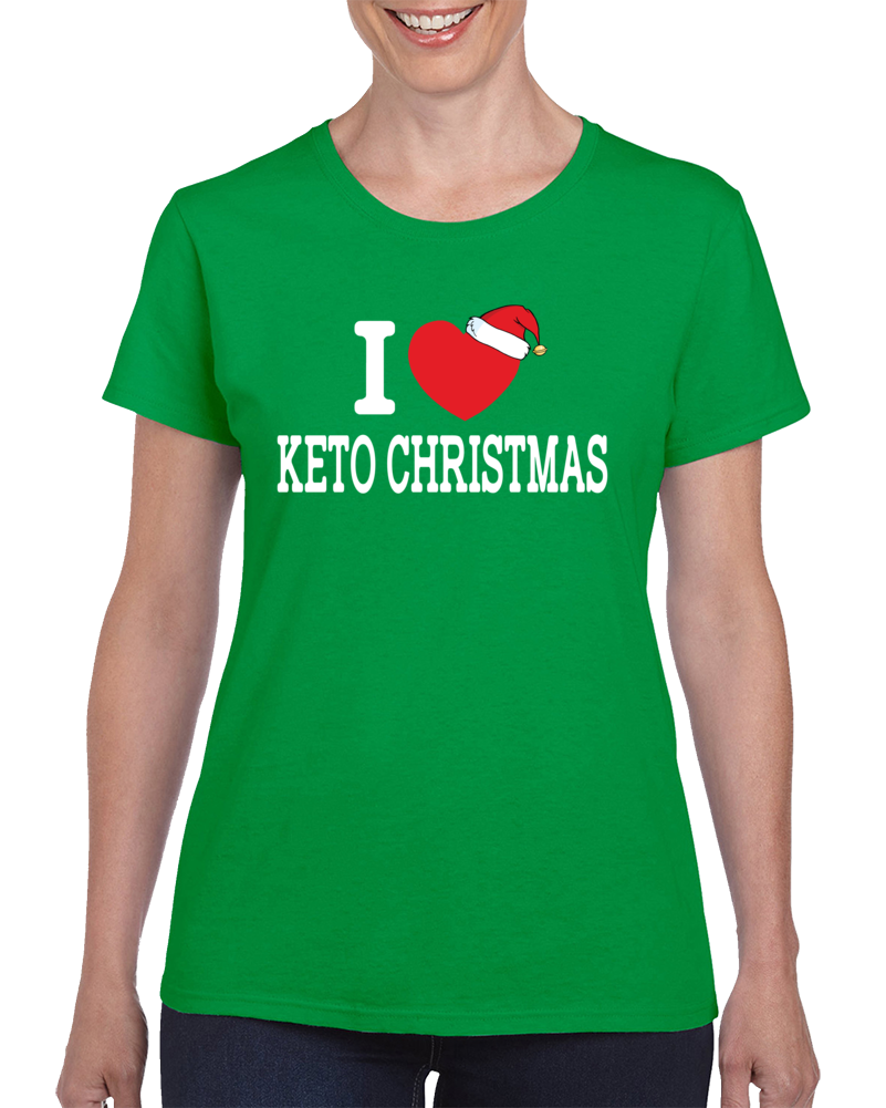 I Heart Keto Christmas T Shirt