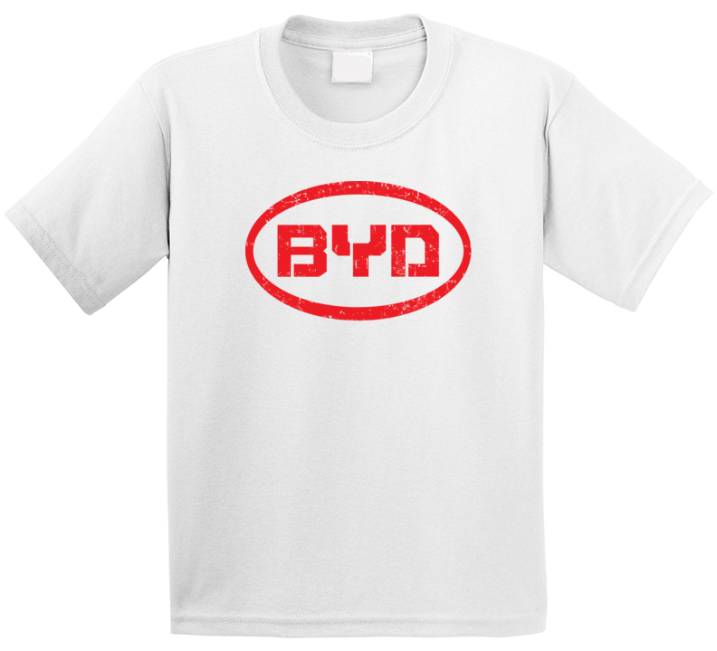 Byd Auto Automobile Car Motorcycle Parts Cool Distressed Style Brand Logo Emblem T Shirt