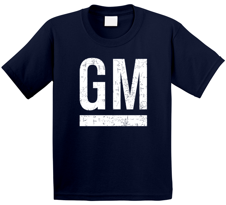 General Motors Automobile Car Truck Motorcycle Auto Parts Cool Distressed Style Brand Logo Emblem T Shirt