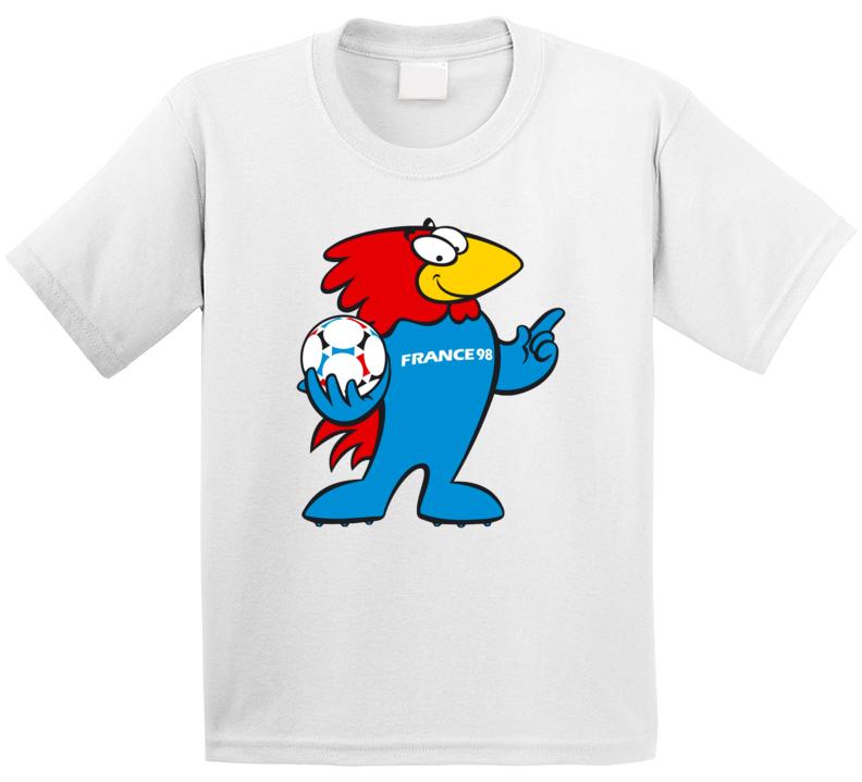 Footix France 1998 World Cup Mascot Fan T Shirt