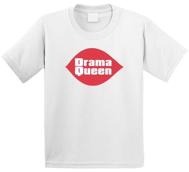 Drama Queen Dairy Ice Cream Shop Logo Parody T Shirt