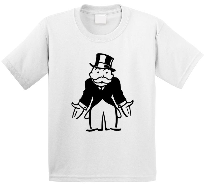 Monopoly Man Broke Uncle Pennybags Boardgame Character Poster Logo Fan T Shirt