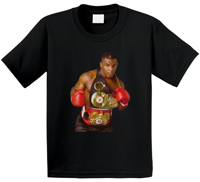 Mike Tyson Boxing Championship Belts Distressed Look Fan Tanktop T Shirt
