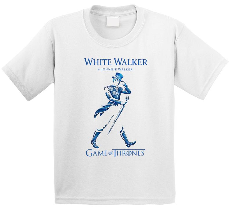White Walker Johnnie Whisky Game Of Thrones Got Logo Parody Fan T Shirt