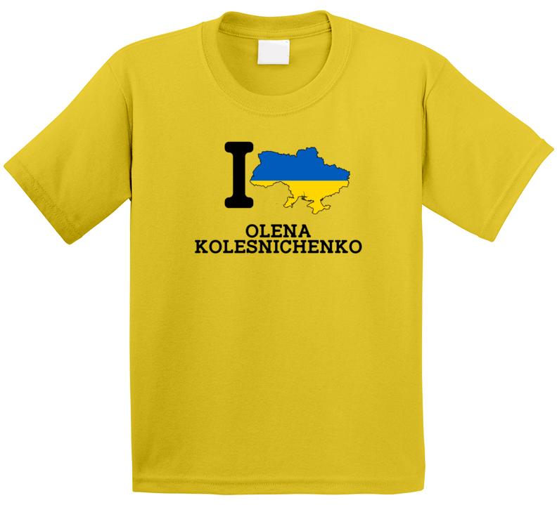 I Love Olena Kolesnichenko Ukraine Track 400 M Hurdles Olympics T Shirt