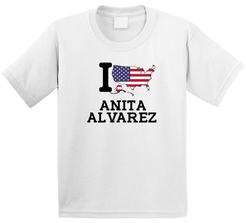 I Love Anita Alvarez Usa Synchronized Swimming Olympics T Shirt