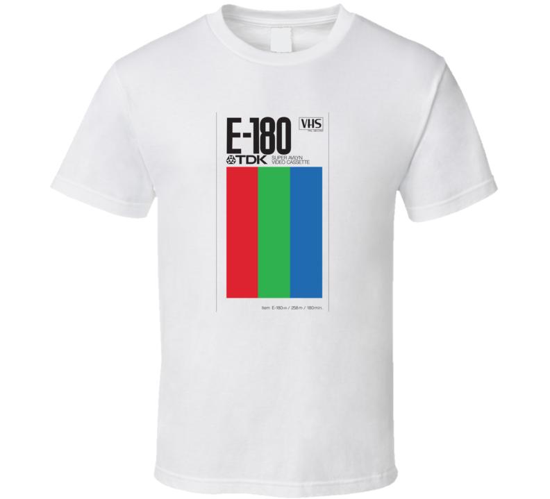 TDK E-180 VHS Tape, T-Shirt