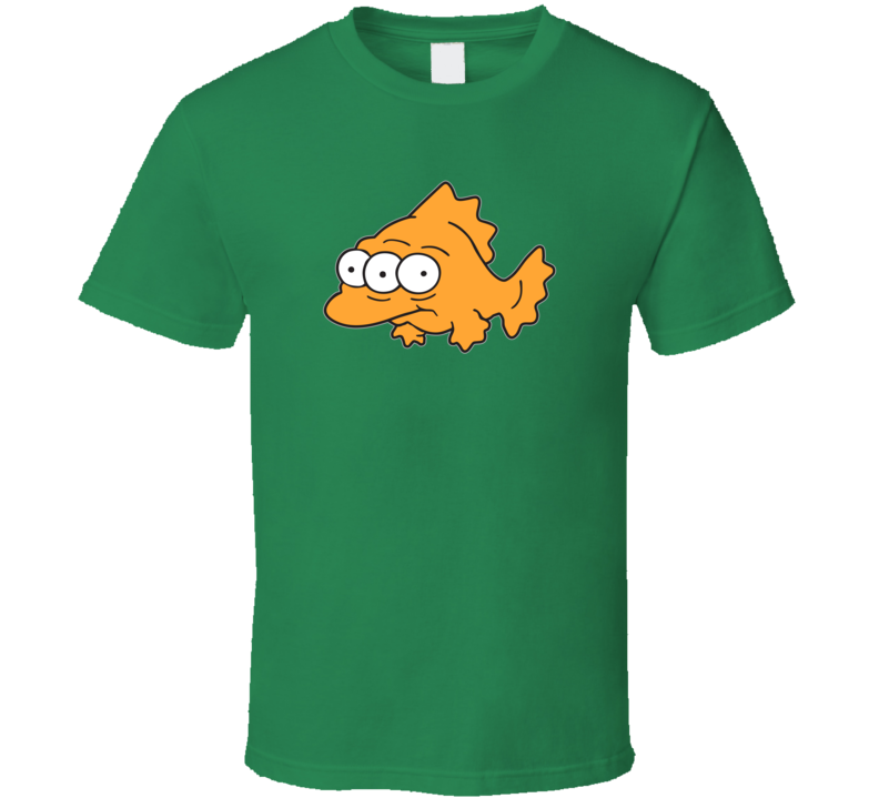 Toxic 3-eyed Fish, T-Shirt, Simpsons, Nuclear, Pollution, Bart, Homer, Cartoon, Funny, Kid's