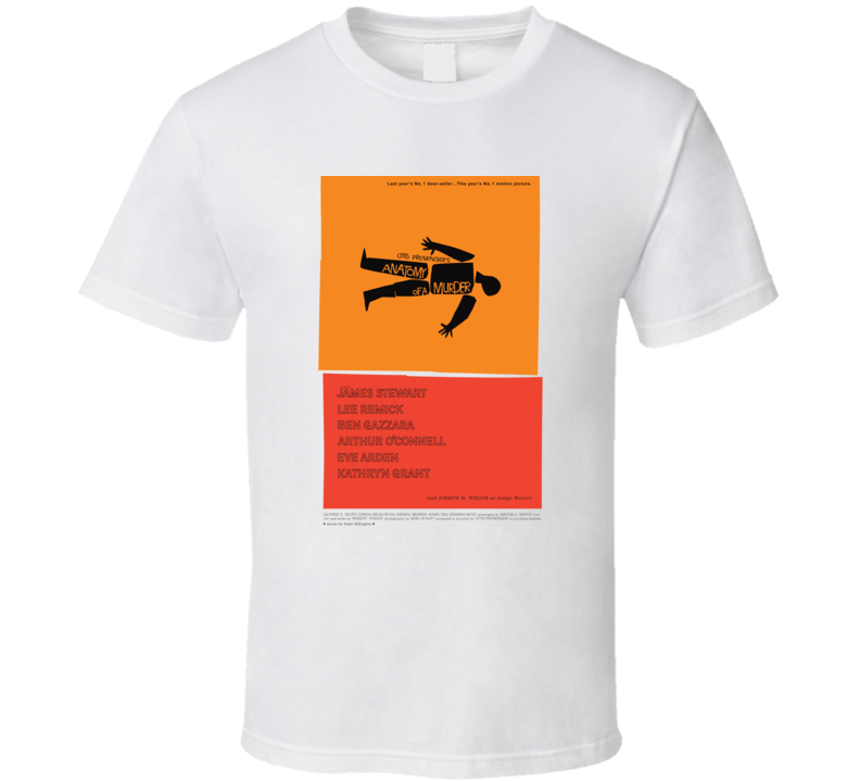 Anatomy of a Murder, T-Shirt, Saul Bass, Ben Gazzera, Duke Ellington, Retro, 50's