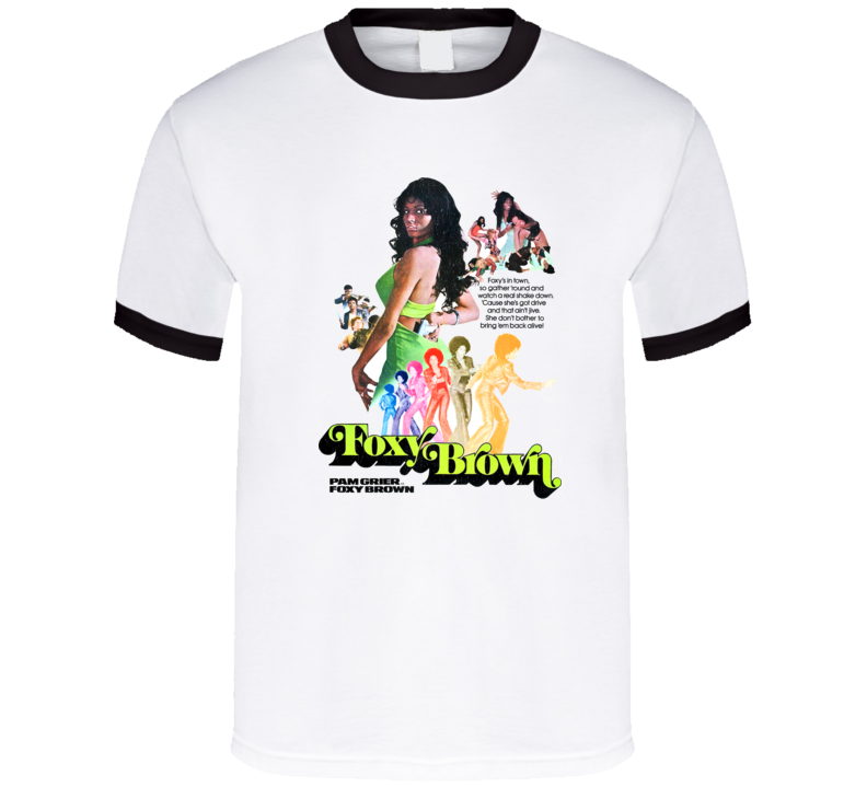 62098c68 Foxy Brown, T-shirt, Pam Grier, Blaxploitation, Retro, 1970's, Coffy