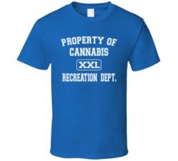 Property of Cannabis Rec Dept Royal Blue T Shirt
