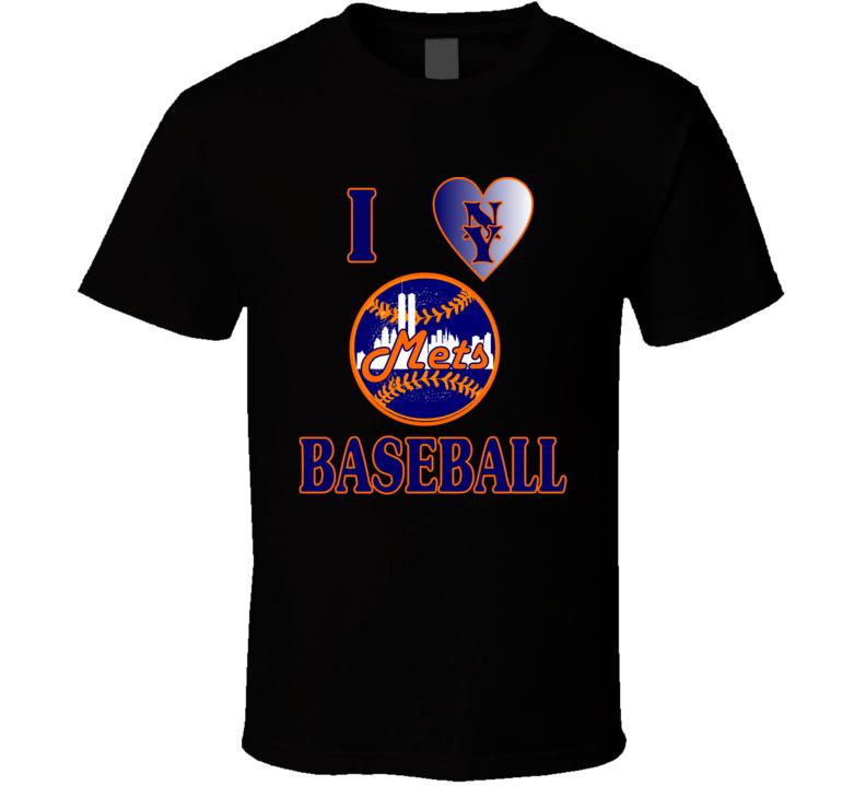 I Love NY Mets Baseball T Shirt