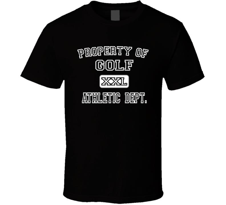 Property of Golf Black T Shirt