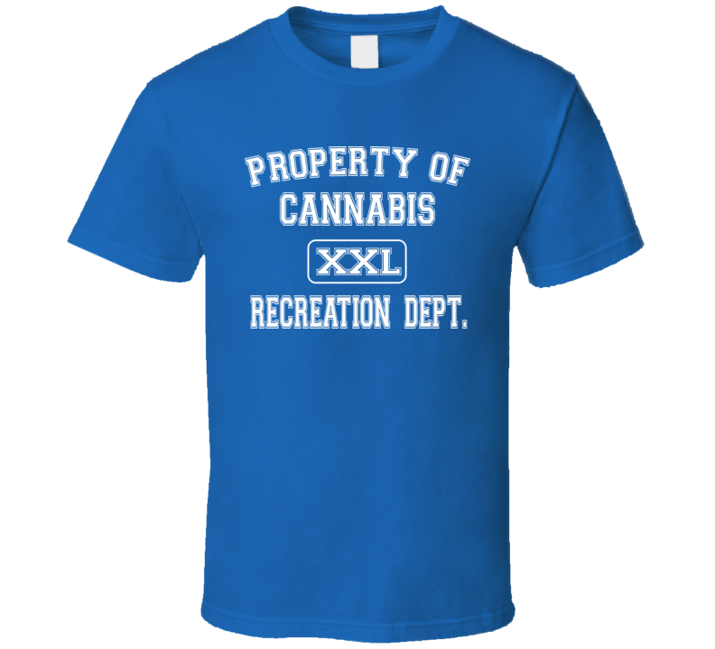 Property of Cannabis Rec Dept Royal Blue T Shirt