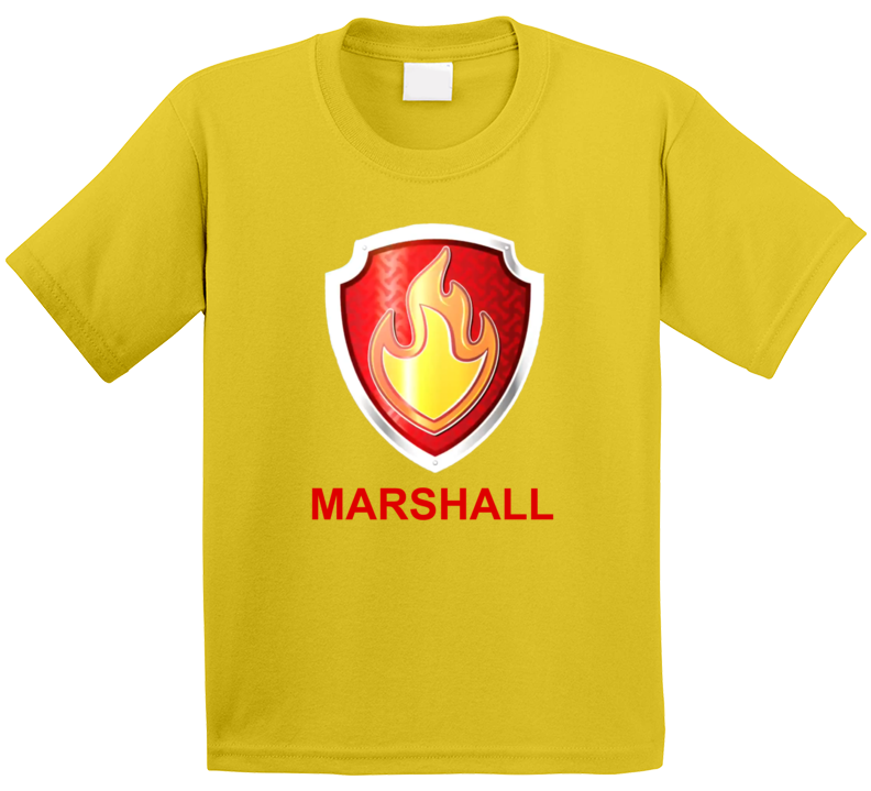 Marshall Paw Patrol Kids Tv Show Fan T Shirt