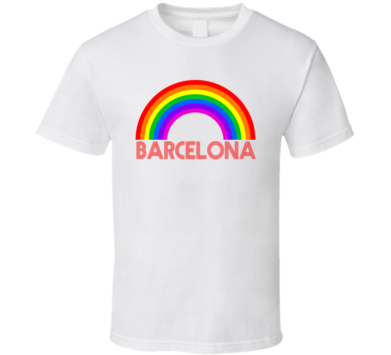 Rainbow Cities Countries Barcelona Lgbtqia Fan T Shirt