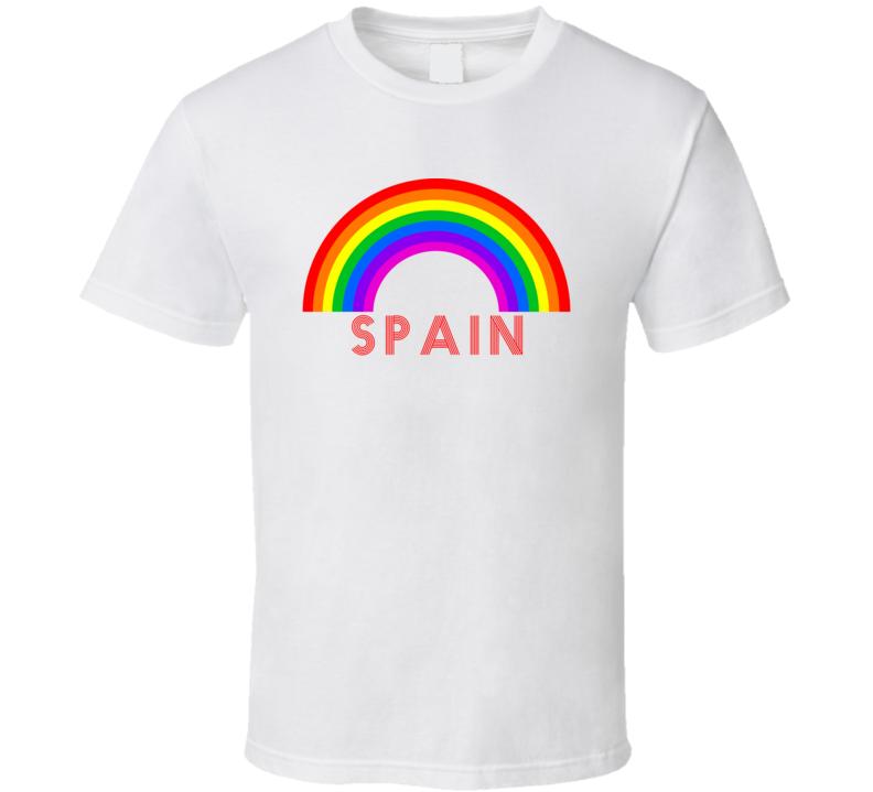 Rainbow Cities Countries Spain Lgbtqia Fan T Shirt