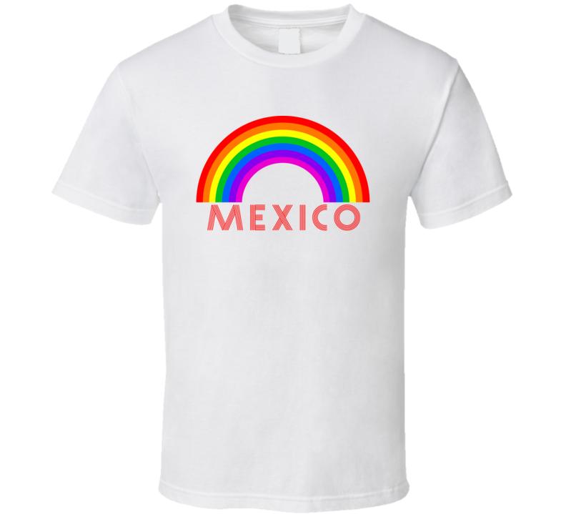Rainbow Cities Countries Mexico Lgbtqia Fan T Shirt
