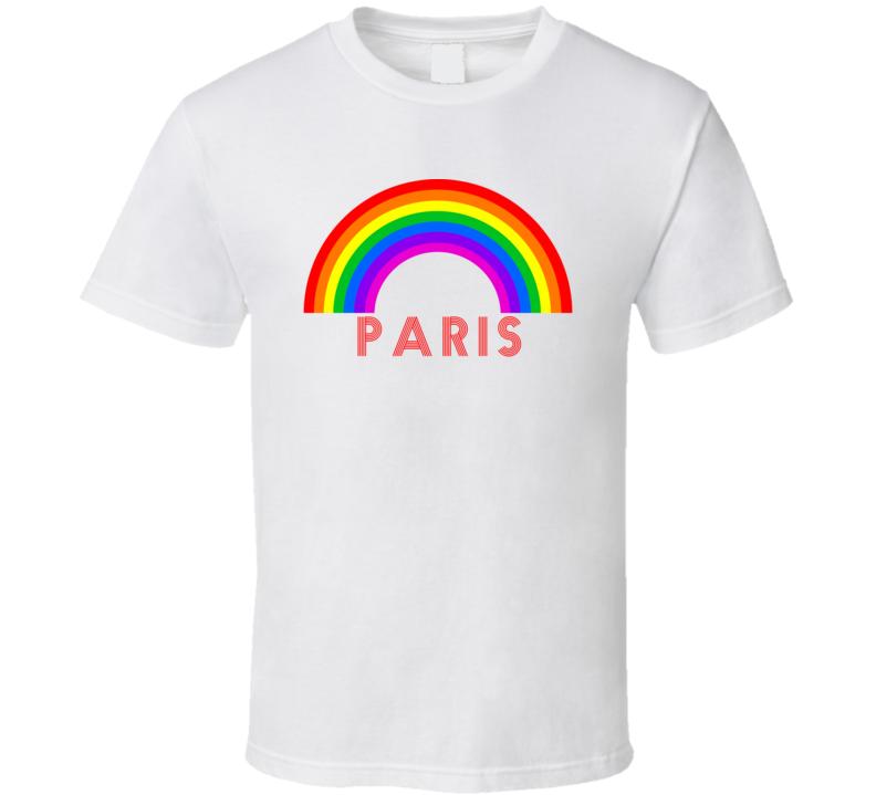 Rainbow Cities Countries Paris Lgbtqia Fan T Shirt