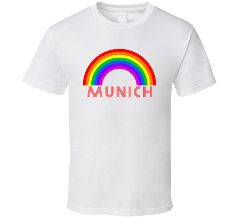 Rainbow Cities Countries Munich Lgbtqia Fan T Shirt