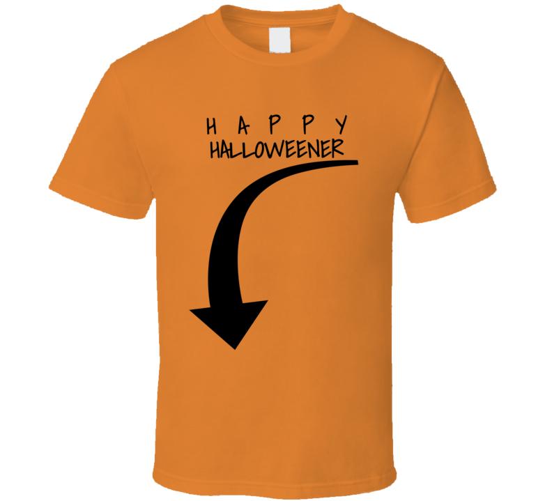 Happy Halloweener Hubie's Halloween Mom Shirt Down Curved Arrow Funny Fan T Shirt