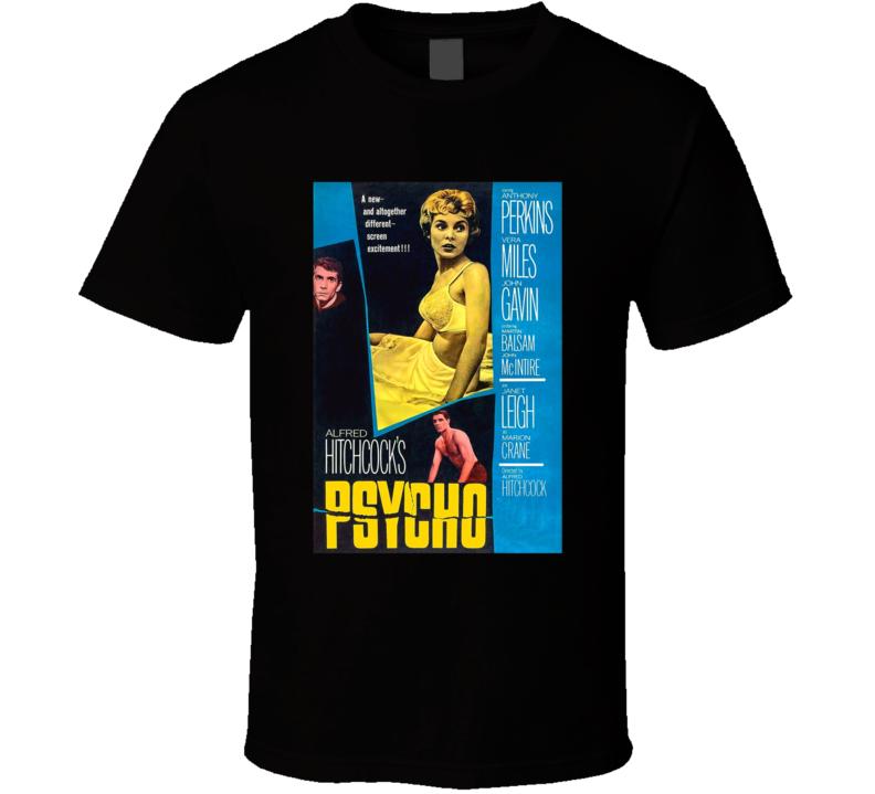 Psycho Best Alfred Hitchcock Movie  Fan T Shirt