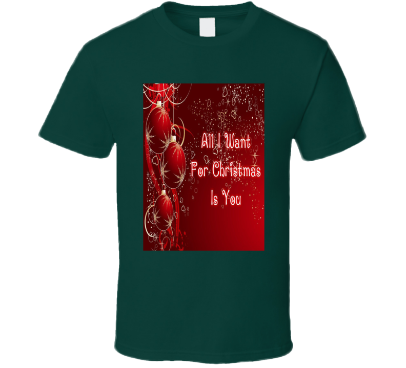 All I Want For Christmas Song Music Fan T Shirt
