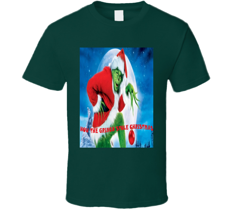 How The Grinch Stole Christmas Classic Holiday Movie Fan T Shirt