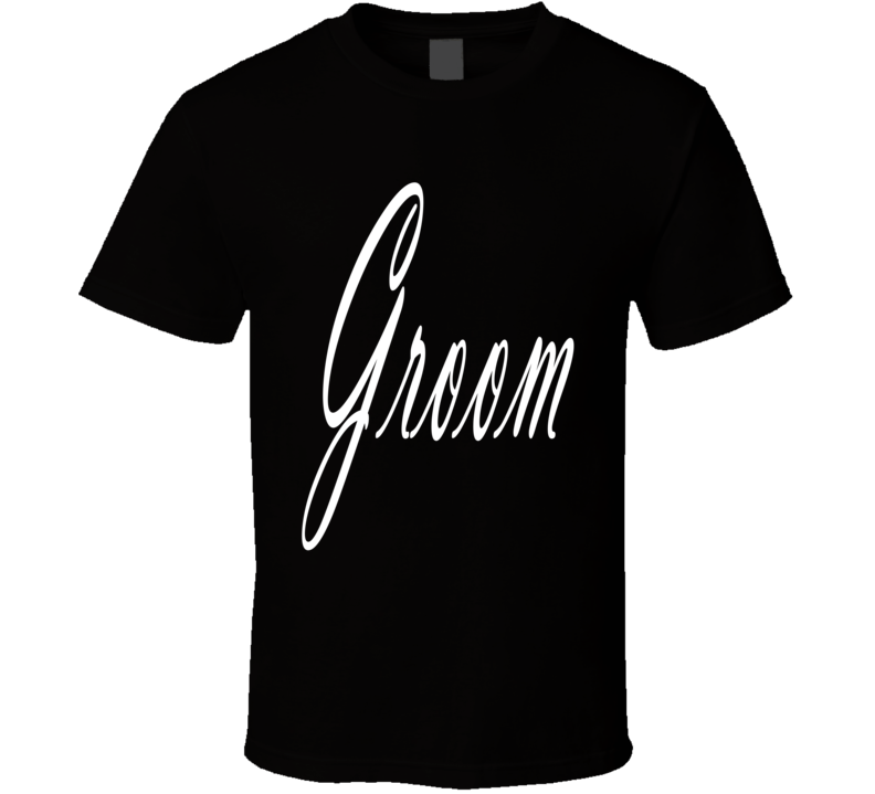 Groom Wedding Bachelor Party Marriage Husband Family Fun Fan T Shirt