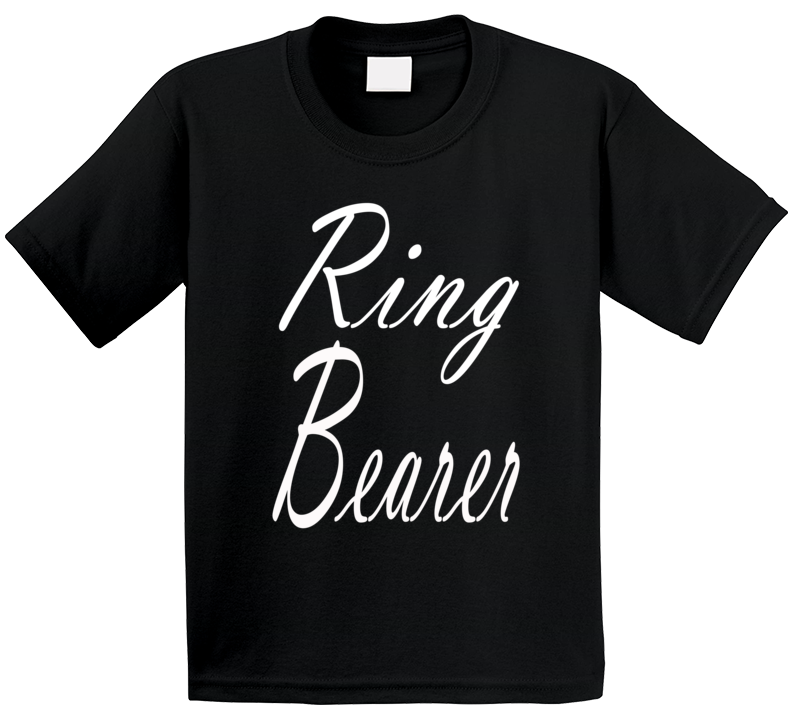 Ring Bearer Wedding Party Marriage Nephew Son Child Gift Fun Fan T Shirt