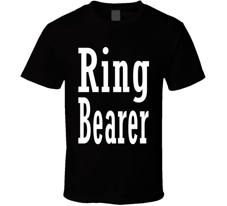 Ring Bearer Gift Wedding Party Young Child Boy Nephew Son Fun Fan T Shirt